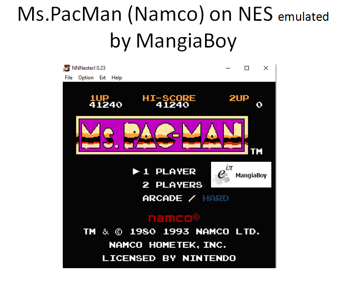 MangiaBoy: Ms. Pac-Man [Namco] (NES/Famicom Emulated) 41,240 points on 2016-08-13 16:04:53