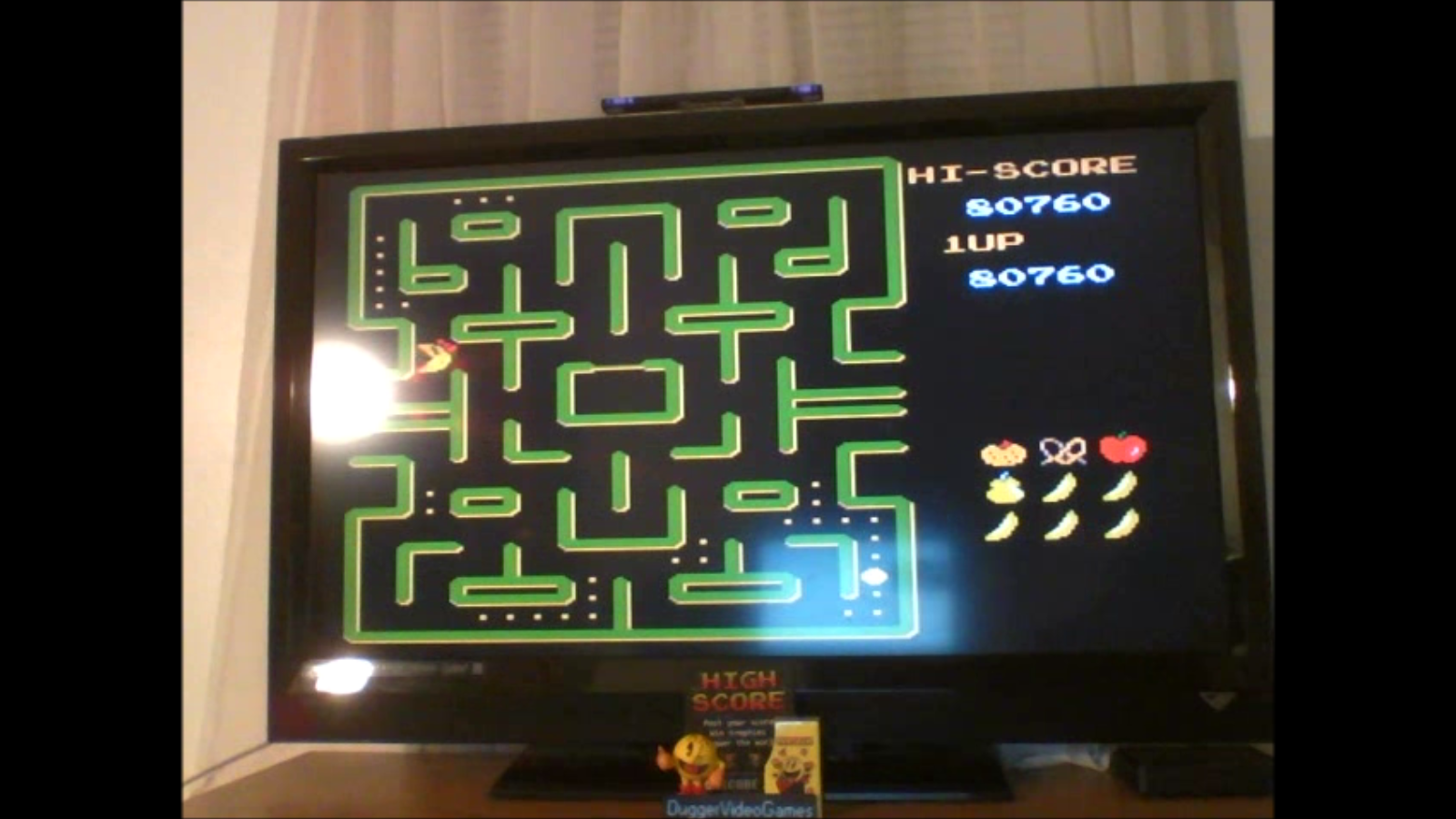 DuggerVideoGames: Ms. Pac-Man [Namco] (NES/Famicom Emulated) 80,760 points on 2016-12-19 17:54:19