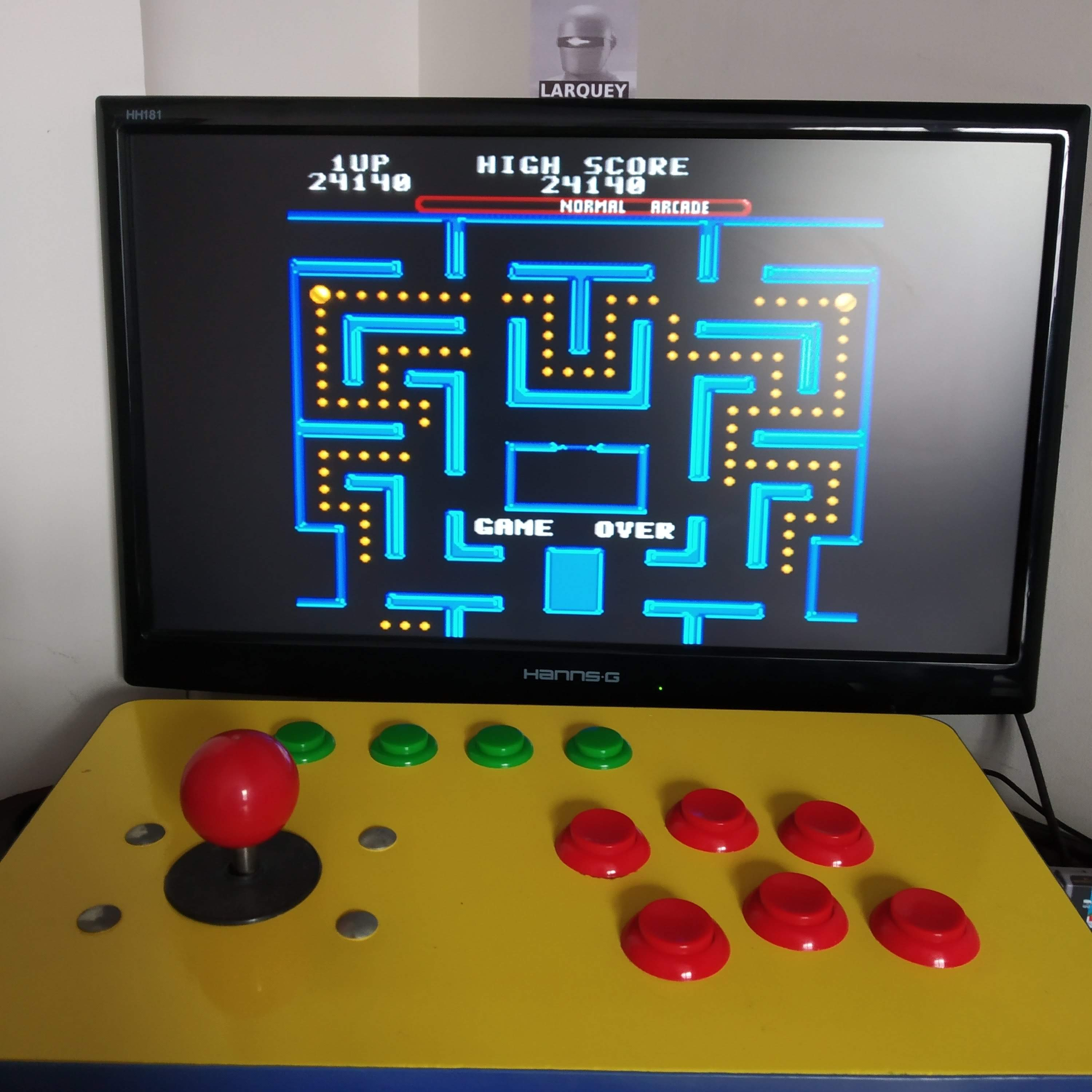 Larquey: Ms. Pac-Man [Off/Normal/Arcade/Level 2 Start] (SNES/Super Famicom Emulated) 24,140 points on 2020-08-16 08:33:18