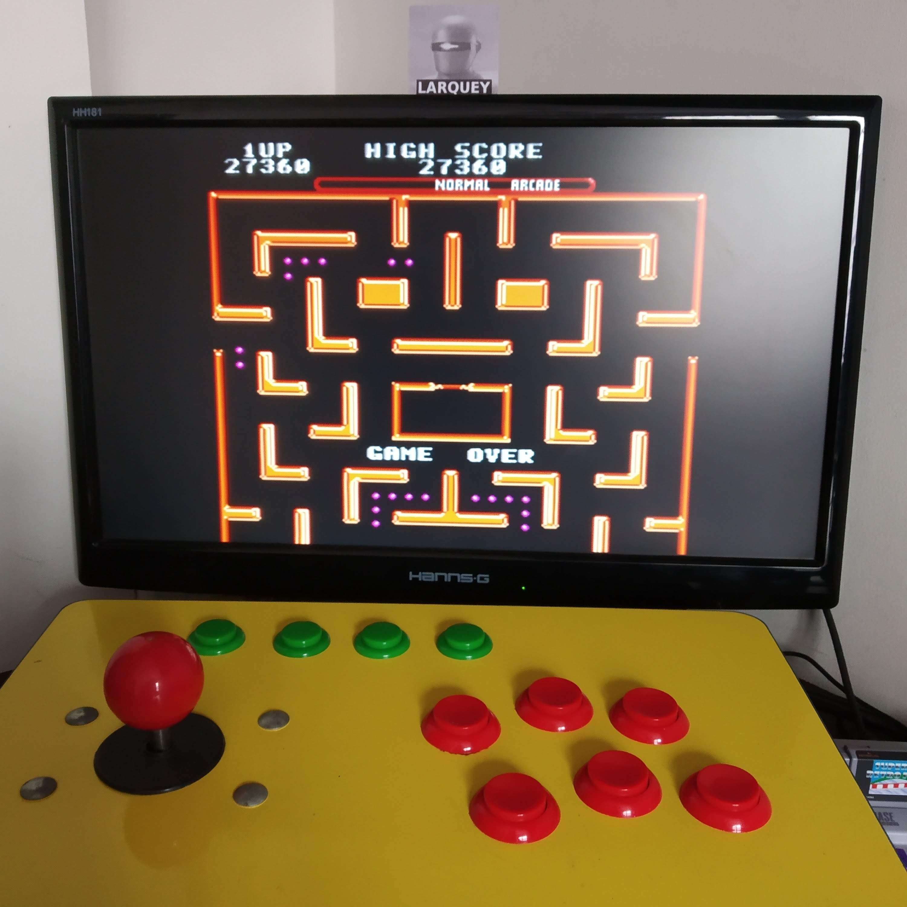 Larquey: Ms. Pac-Man [Off/Normal/Arcade/Level 3 Start] (SNES/Super Famicom Emulated) 27,360 points on 2020-08-16 09:19:13