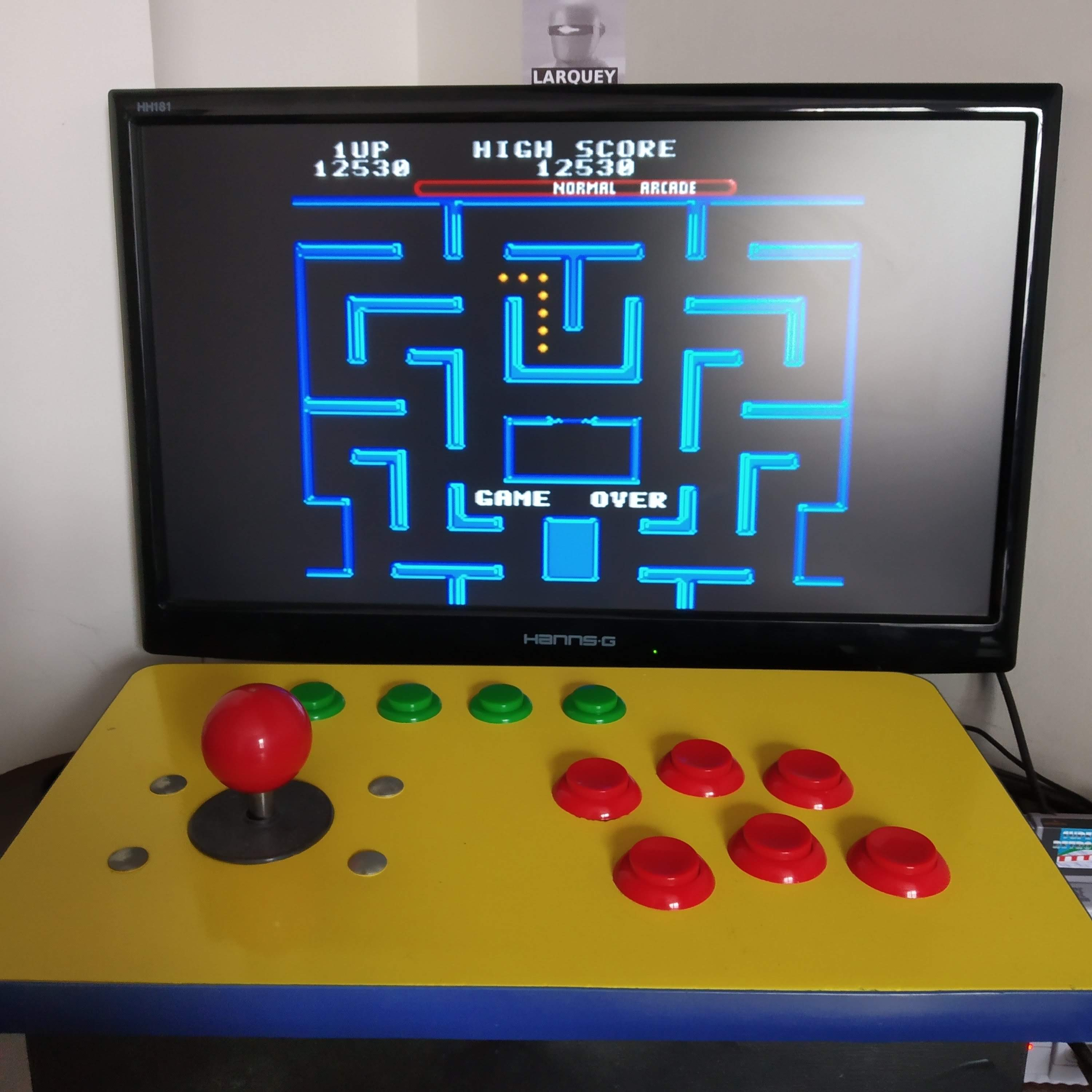 Larquey: Ms. Pac-Man [Off/Normal/Arcade/Level 4 Start] (SNES/Super Famicom Emulated) 12,530 points on 2020-08-16 09:36:20