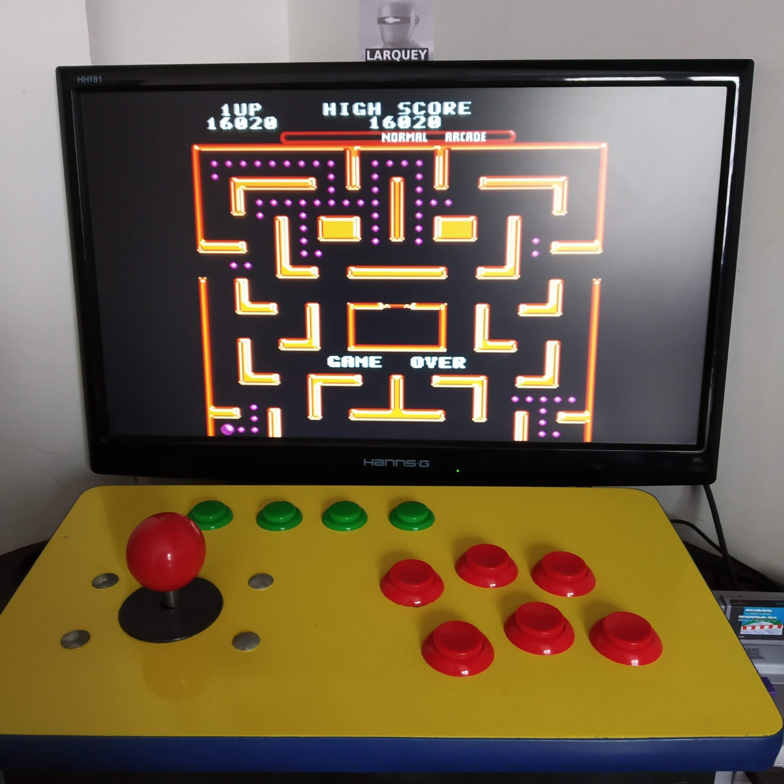 Larquey: Ms. Pac-Man [Off/Normal/Arcade/Level 5 Start] (SNES/Super Famicom Emulated) 16,020 points on 2020-08-16 09:46:35