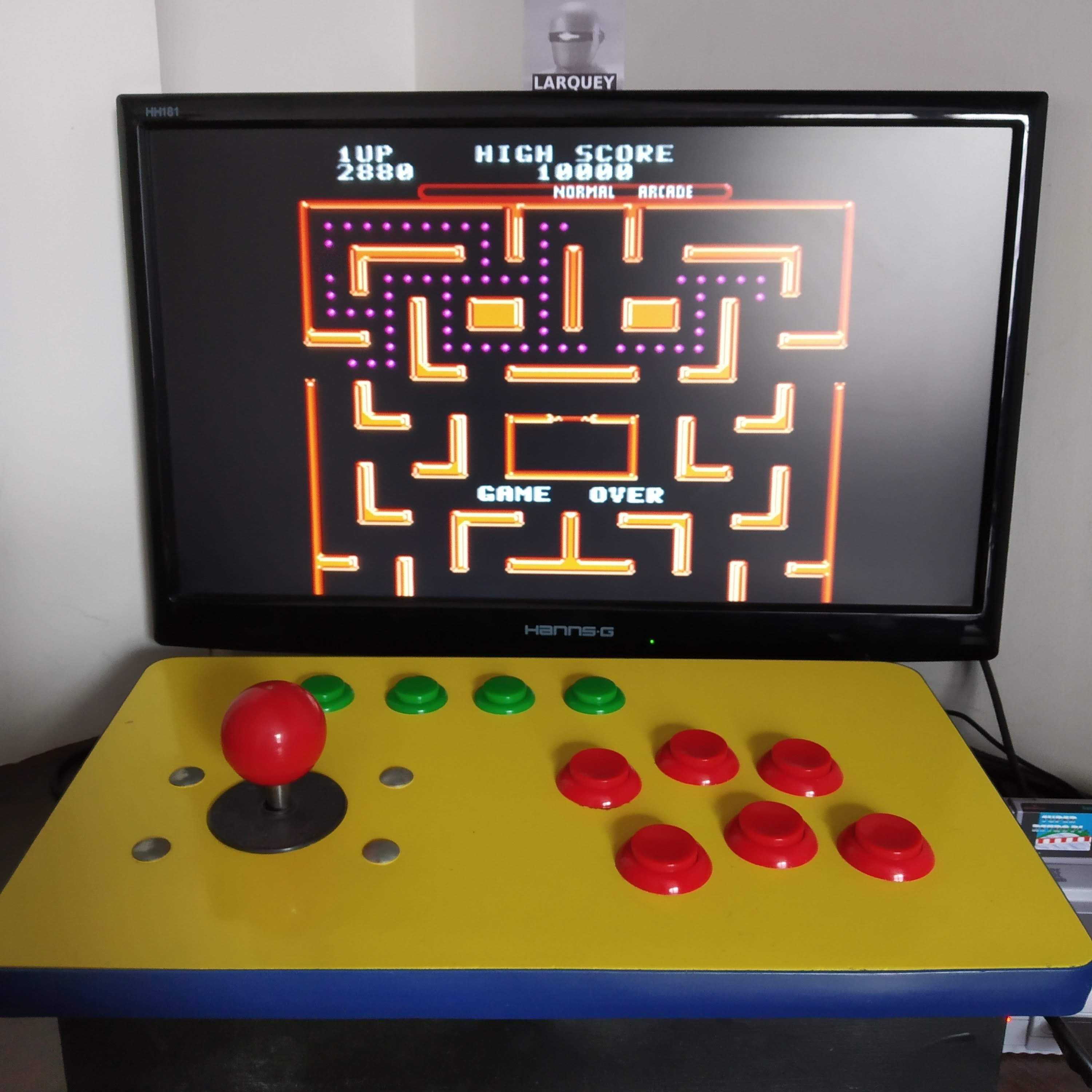 Larquey: Ms. Pac-Man [Off/ Normal/ Arcade/ Level 7 Start] (SNES/Super Famicom Emulated) 2,880 points on 2020-08-16 10:01:57