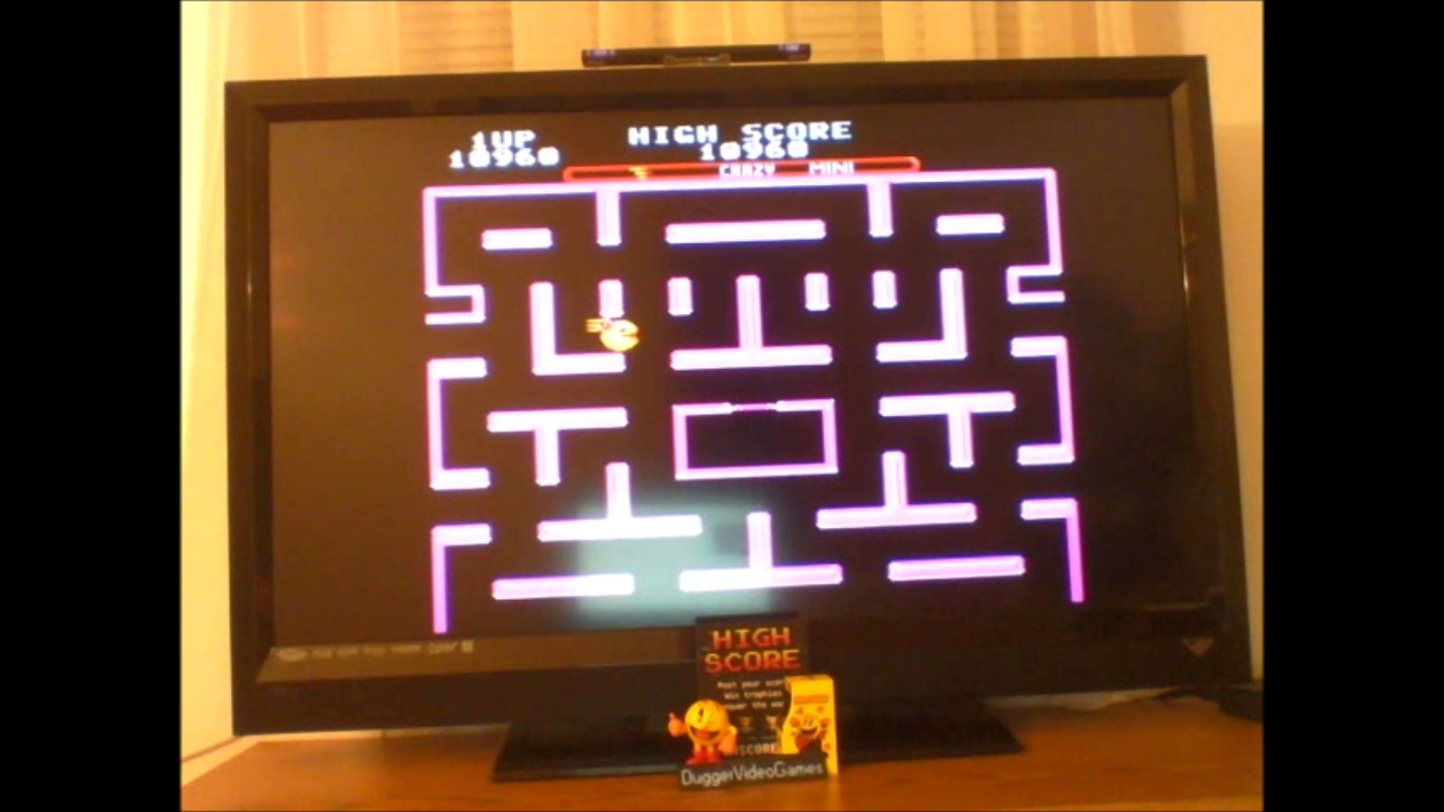 DuggerVideoGames: Ms. Pac-Man [On/ Crazy/ Mini/ Level 1 Start] (SNES/Super Famicom Emulated) 10,960 points on 2017-01-15 23:48:46