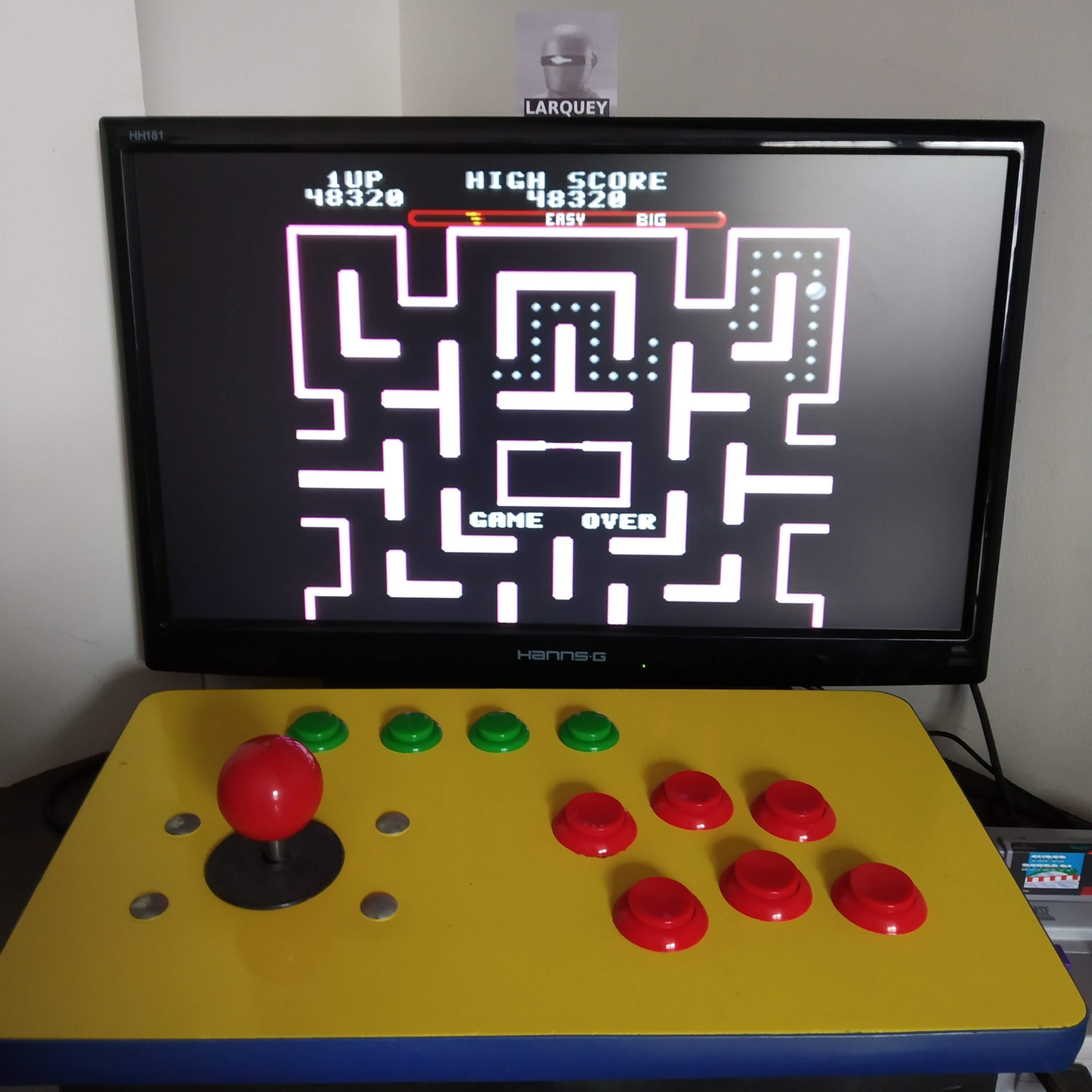 Larquey: Ms. Pac-Man [On/ Easy/ Big/ Level 1 Start] (SNES/Super Famicom Emulated) 48,320 points on 2020-08-16 08:03:16