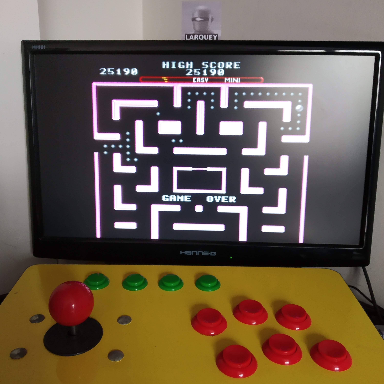 Larquey: Ms. Pac-Man [On/ Easy/ Mini/ Level 3 Start] (SNES/Super Famicom Emulated) 25,190 points on 2020-08-16 09:27:18