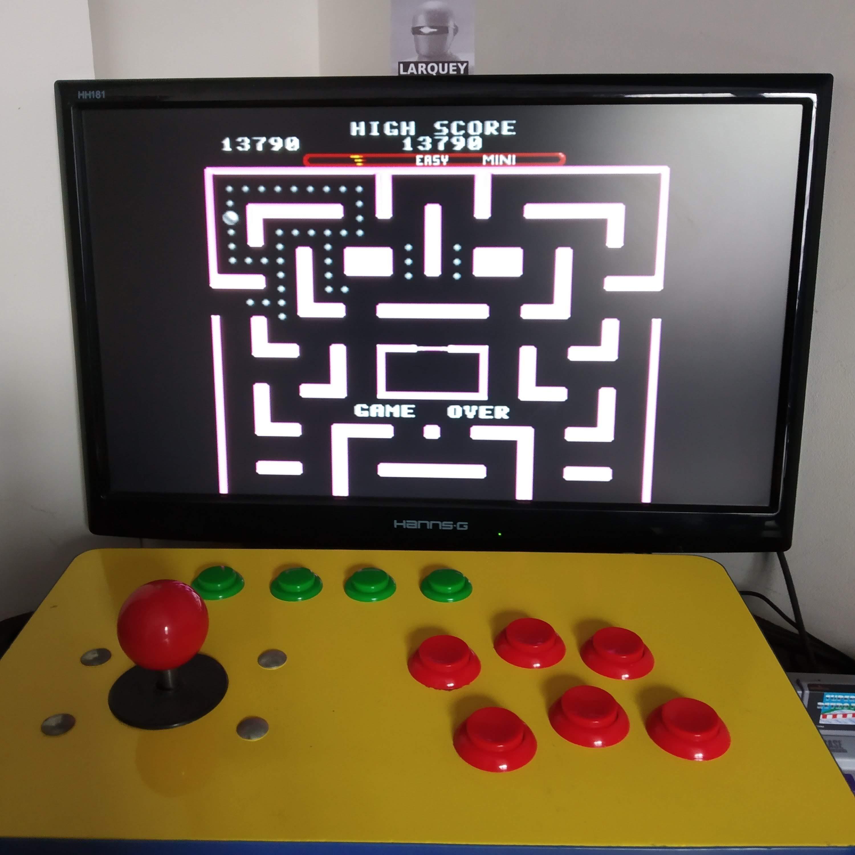 Larquey: Ms. Pac-Man [On/ Easy/ Mini/ Level 4 Start] (SNES/Super Famicom Emulated) 13,790 points on 2020-08-16 09:32:13