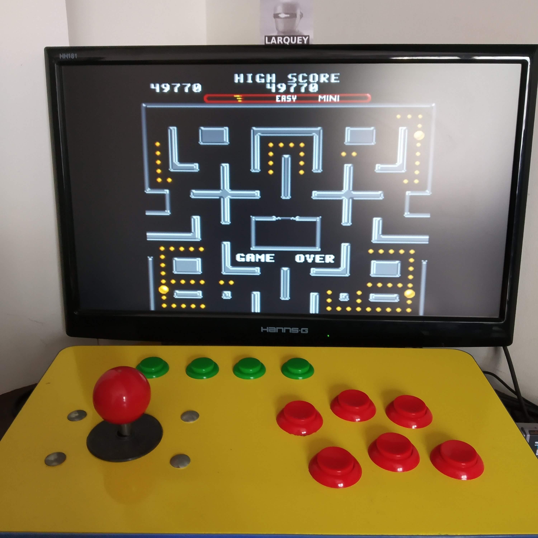Larquey: Ms. Pac-Man [On/ Easy/ Mini/ Level 5 Start] (SNES/Super Famicom Emulated) 49,770 points on 2020-08-16 09:41:15
