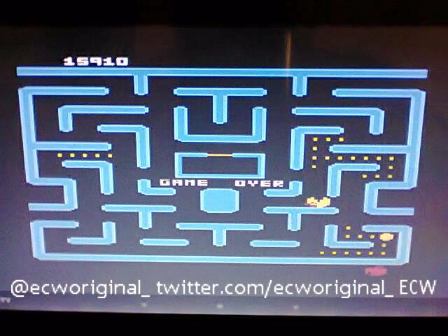 ecworiginal: Ms. Pac-Man [Orange Start] (Atari 400/800/XL/XE Emulated) 15,910 points on 2016-04-25 14:17:43