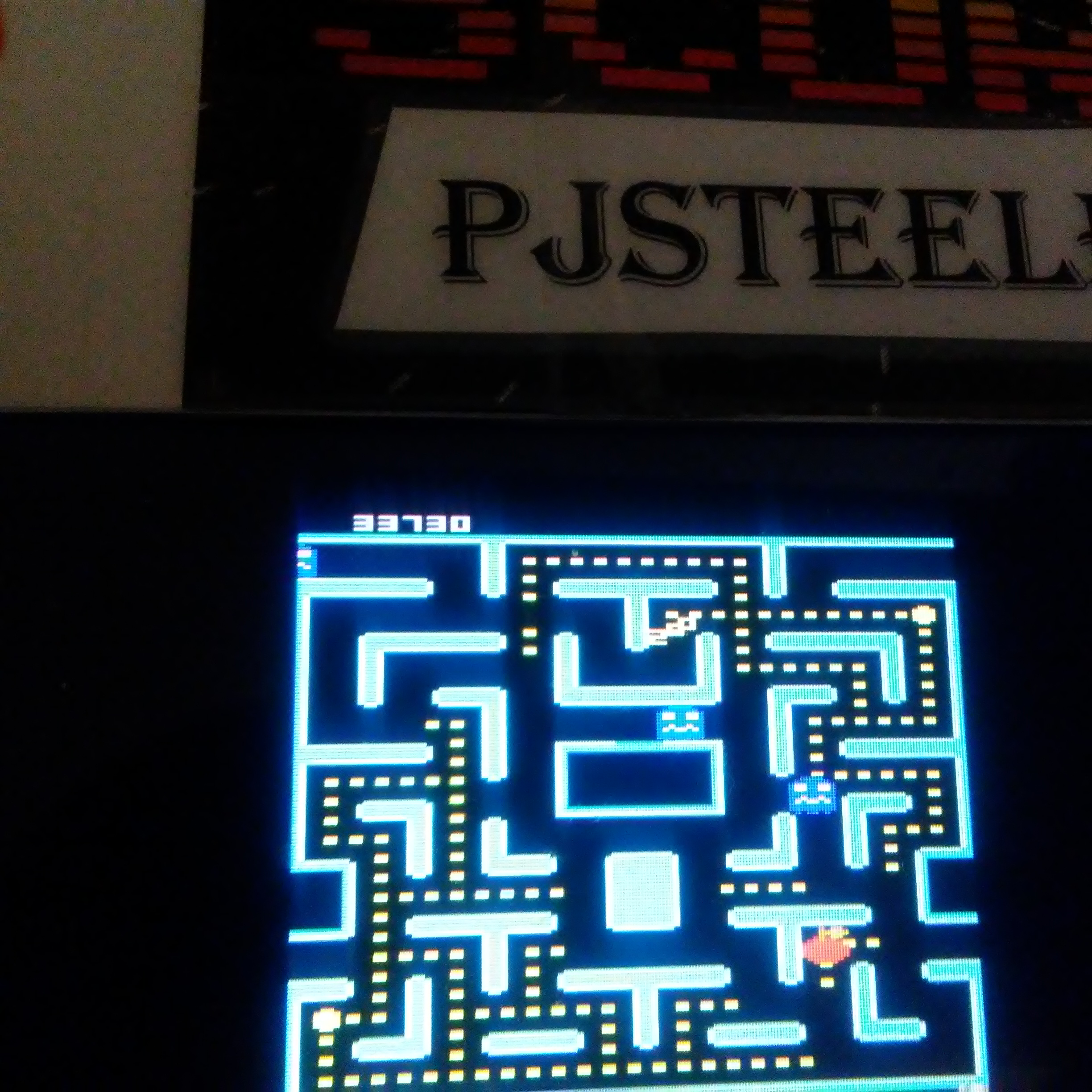 Pjsteele: Ms. Pac-Man: Orange Start (Atari 7800 Emulated) 33,730 points on 2018-06-18 18:00:26