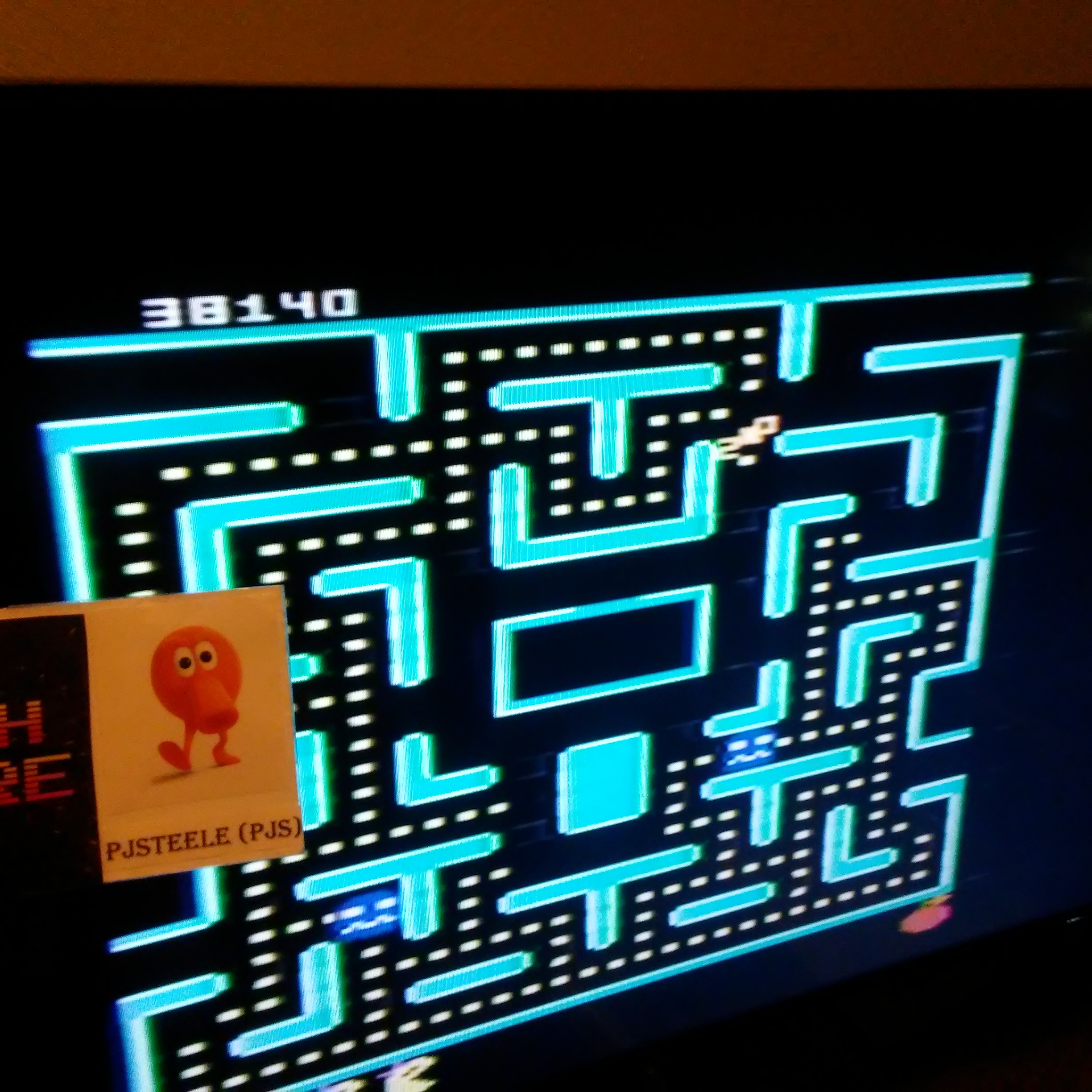 Pjsteele: Ms. Pac-Man: Orange Start (Atari 7800) 38,140 points on 2018-07-04 08:46:43