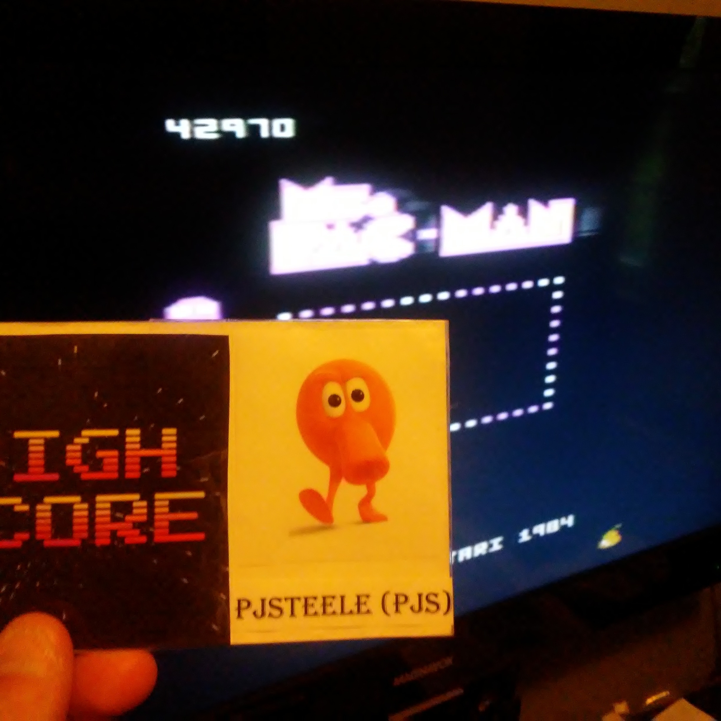 Pjsteele: Ms. Pac-Man: Pear Start (Atari 7800) 42,970 points on 2018-07-05 08:36:44