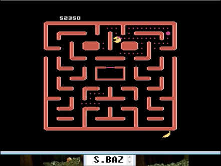S.BAZ: Ms. Pac-Man [Pretzel Start] (Atari 400/800/XL/XE Emulated) 52,350 points on 2016-04-23 03:30:11