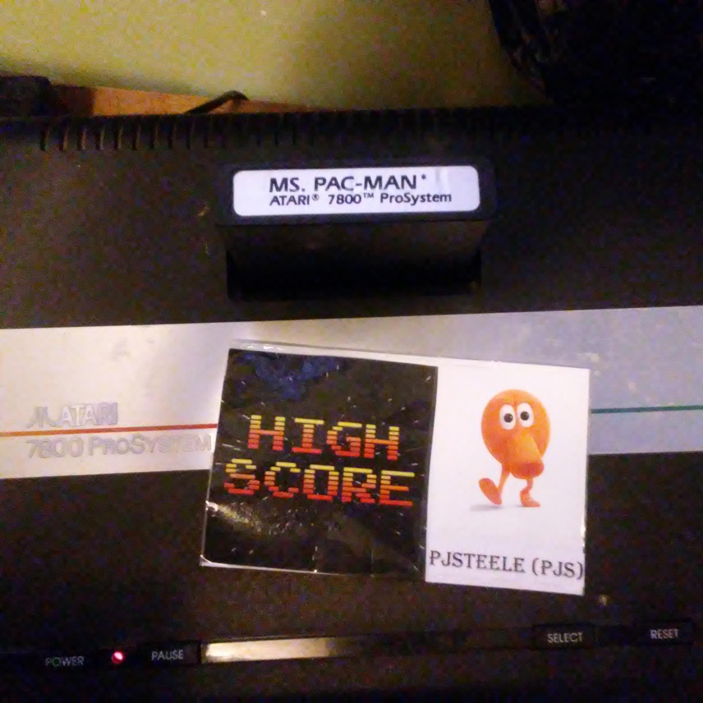 Pjsteele: Ms. Pac-Man: Pretzel Start (Atari 7800) 37,080 points on 2018-07-04 09:07:32