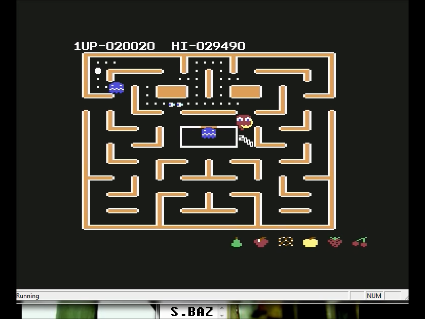 S.BAZ: Ms. Pac-Man [Pretzel Start] (Commodore 64 Emulated) 20,020 points on 2016-05-30 18:09:07