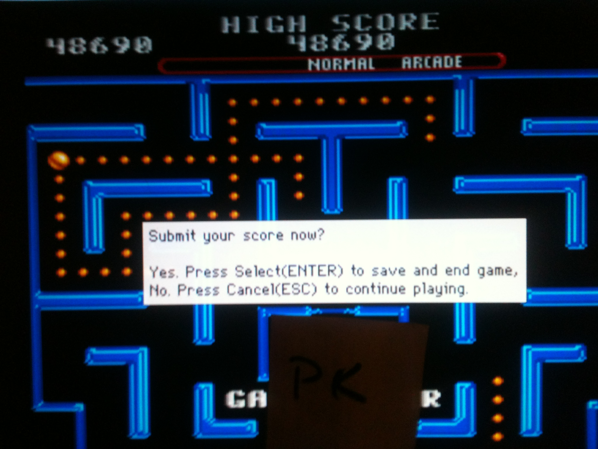 kernzy: Ms. Pac-Man (SNES/Super Famicom Emulated) 48,690 points on 2015-09-14 13:41:32