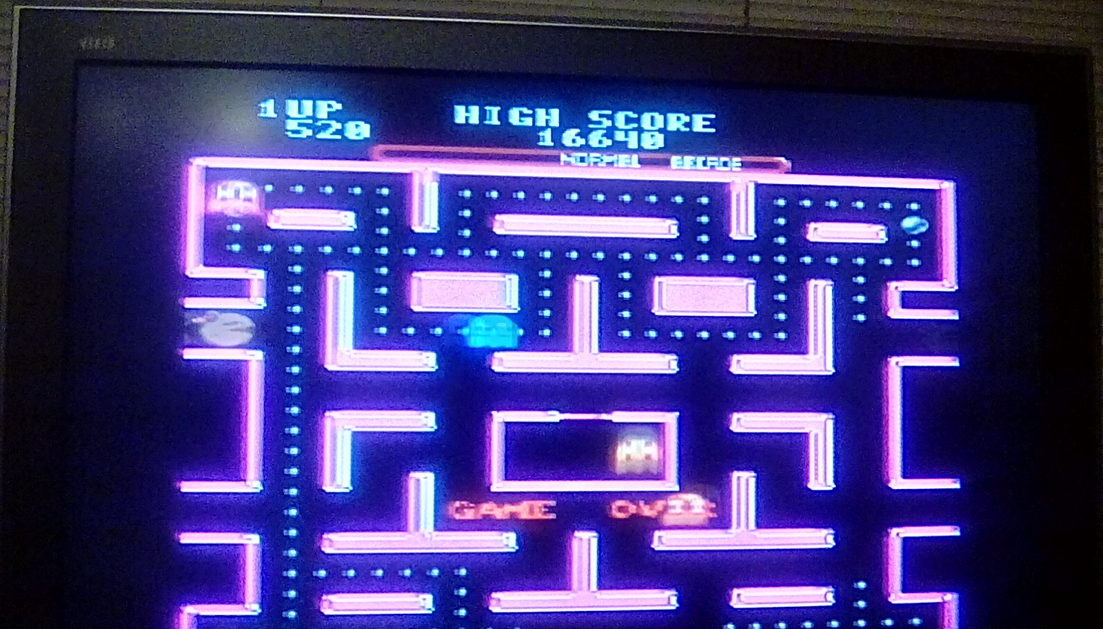 Ms. Pac-Man 16,640 points