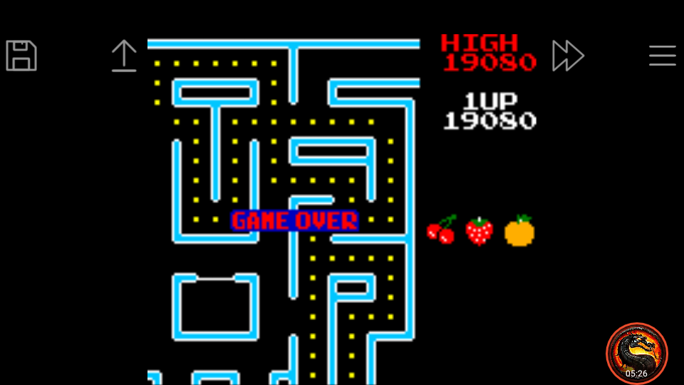 omargeddon: Ms. Pac-Man: Special Color Edition [Hard] (Game Boy Color Emulated) 19,080 points on 2020-12-26 03:01:47