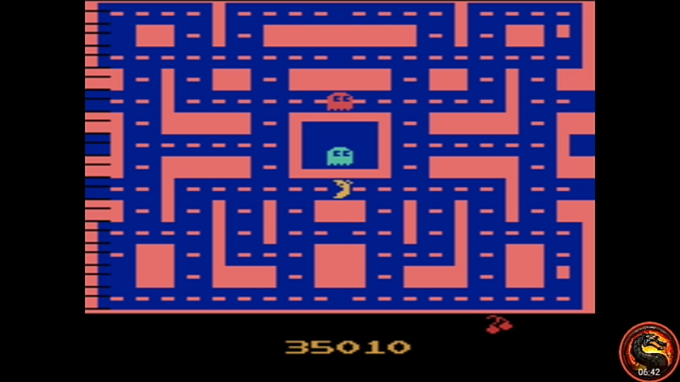 omargeddon: Ms. Pac-Man [Strawberry Start] (Atari 2600 Emulated Novice/B Mode) 35,010 points on 2020-08-21 01:10:36