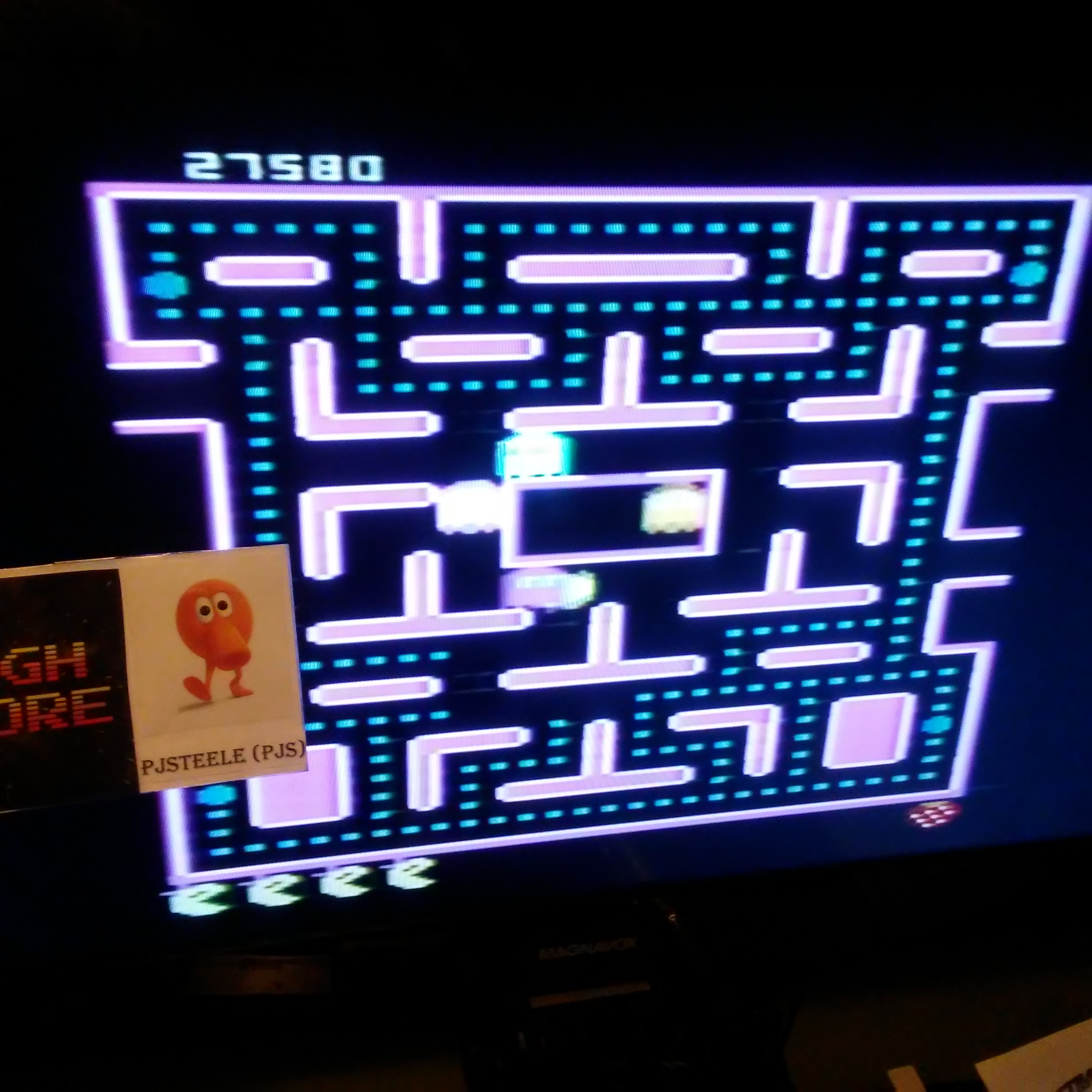 Pjsteele: Ms. Pac-Man: Strawberry Start (Atari 7800) 27,580 points on 2018-07-02 21:46:40