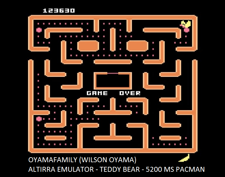 oyamafamily: Ms. Pac-Man [Teddy Bear] (Atari 5200 Emulated) 123,630 points on 2016-06-26 21:17:33