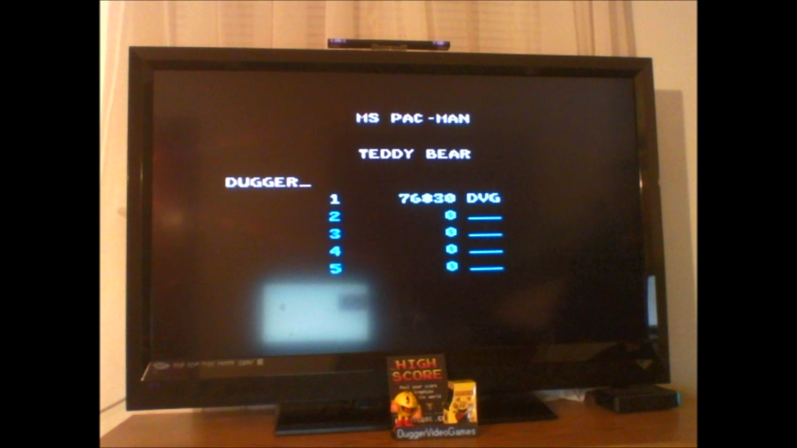 DuggerVideoGames: Ms. Pac-Man: Teddy Bear (Atari 7800 Emulated) 76,830 points on 2016-12-21 18:11:32