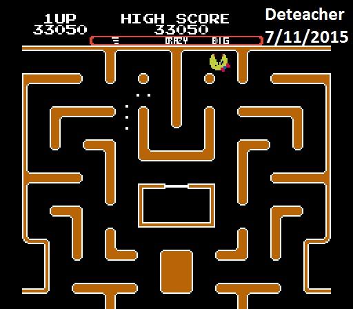 Deteacher: Ms. Pac-Man [Tengen] [AorB/ Crazy/ Big/ Level 5 Start] (NES/Famicom Emulated) 33,050 points on 2015-07-11 07:49:17