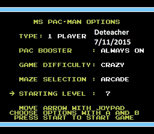 Deteacher: Ms. Pac-Man [Tengen] [On/ Crazy/ Arcade/ Level 7 Start] (NES/Famicom Emulated) 23,200 points on 2015-07-11 08:08:29