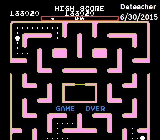 Deteacher: Ms. Pac-Man [Tengen] [On/ Easy/ Arcade/ Level 3 Start] (NES/Famicom Emulated) 133,020 points on 2015-06-30 22:08:15