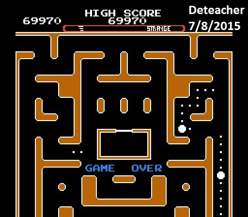 Deteacher: Ms. Pac-Man [Tengen] [On/ Normal/ Strange/ Level 1 Start] (NES/Famicom Emulated) 69,970 points on 2015-07-08 21:39:44