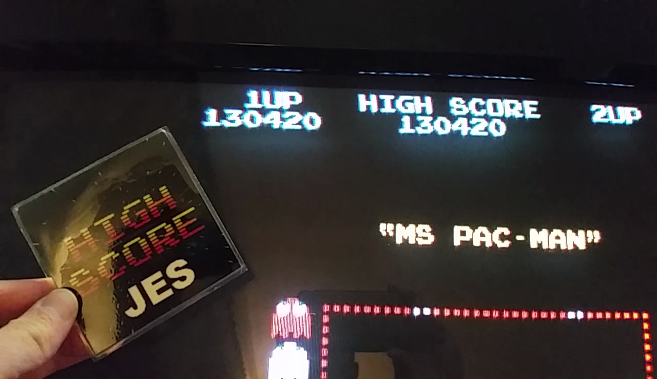 JES: Ms. Pac-Man [Turbo] (Arcade Emulated / M.A.M.E.) 130,420 points on 2017-05-17 01:01:24