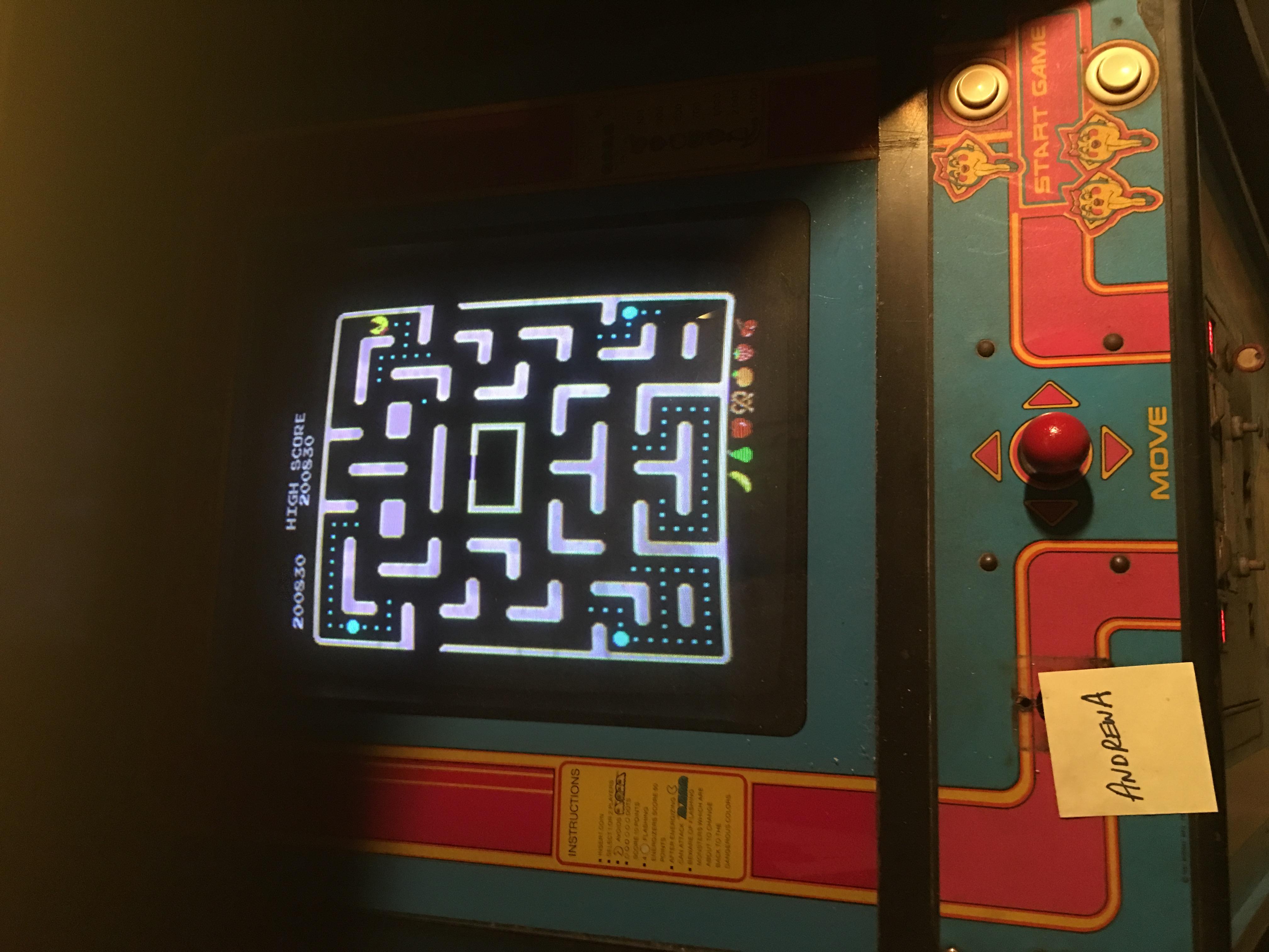 AndrewA: Ms. Pac-Man [Turbo] (Arcade) 200,830 points on 2017-11-04 17:59:43