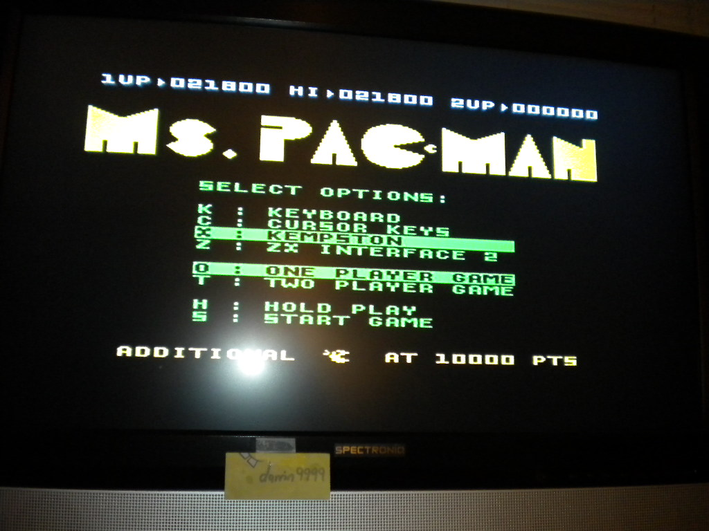Ms. Pac-Man 21,800 points