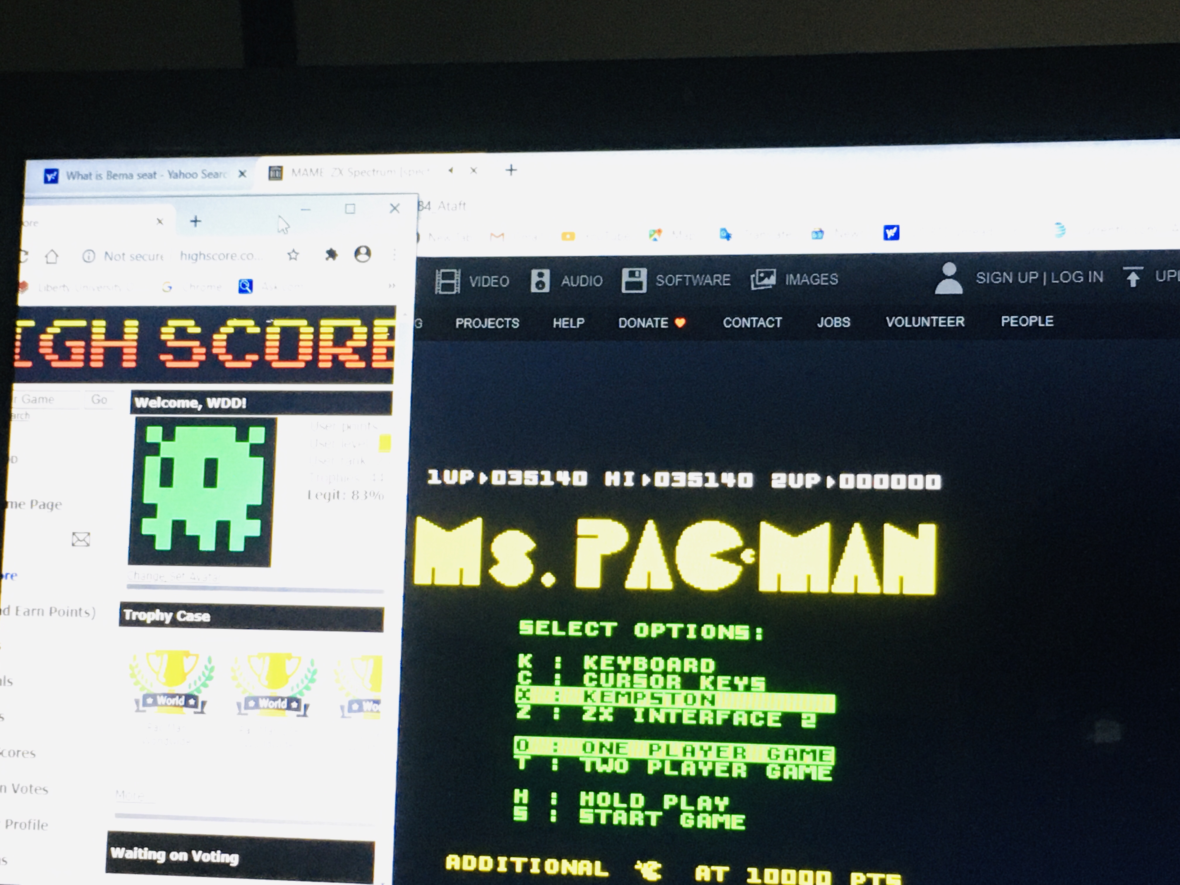 WDD: Ms. Pac-Man (ZX Spectrum Emulated) 35,140 points on 2020-08-12 13:25:40