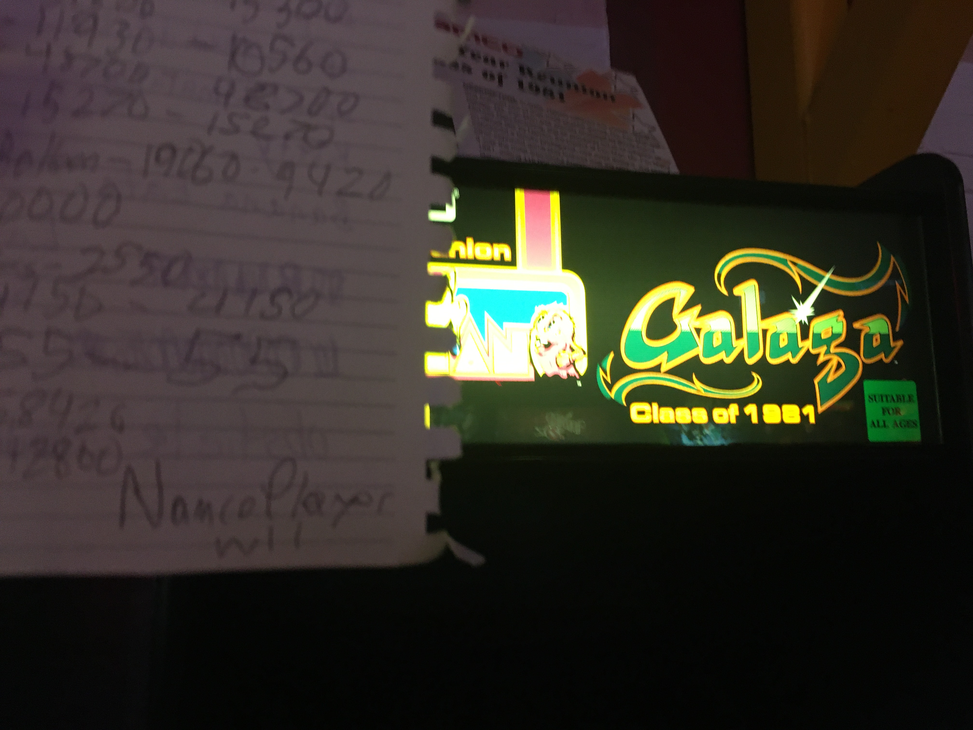 NamcoPlayer: Ms. Pacman/Galaga: Class of 1981: Galaga (Arcade) 191,280 points on 2020-11-01 18:45:00