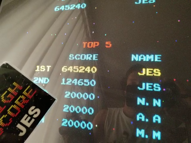 JES: Ms. Pacman/Galaga: Class of 1981: Galaga [Fast Shots] [20pacgal] (Arcade Emulated / M.A.M.E.) 645,240 points on 2018-05-29 15:59:38