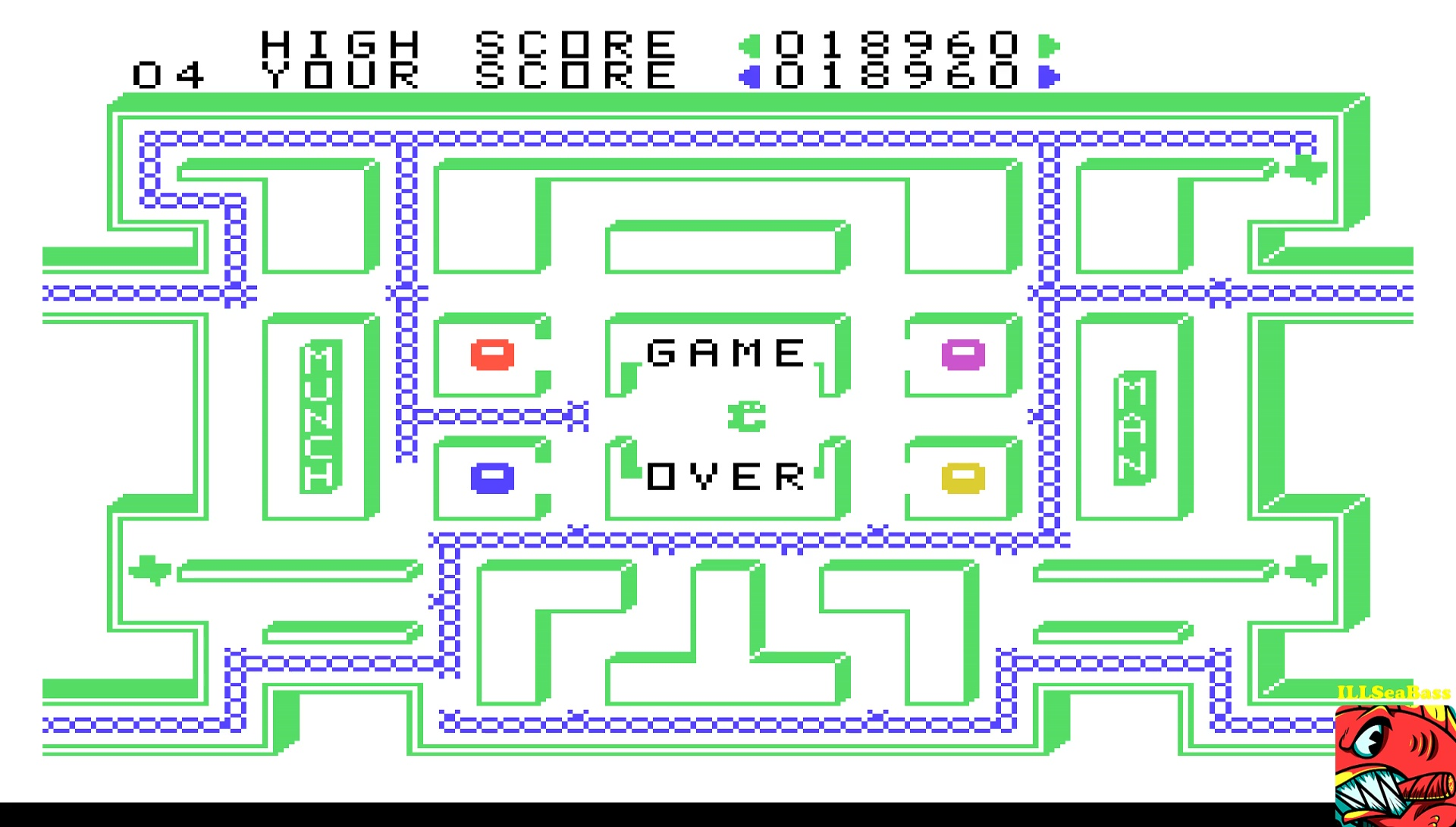 ILLSeaBass: Munch Man (TI 99/4A Emulated) 18,960 points on 2017-05-06 14:26:29