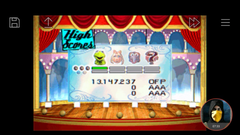 omargeddon: Muppet Pinball Mayhem: Kermit [3 Balls] (GBA Emulated) 13,147,237 points on 2018-04-30 00:03:13