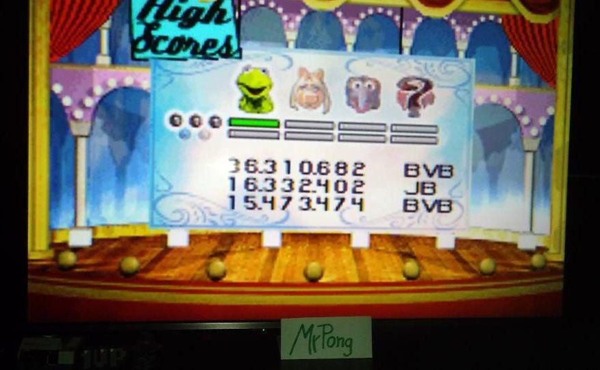 MrPong: Muppet Pinball Mayhem: Kermit [3 Balls] (GBA Emulated) 36,310,682 points on 2019-05-14 14:00:47