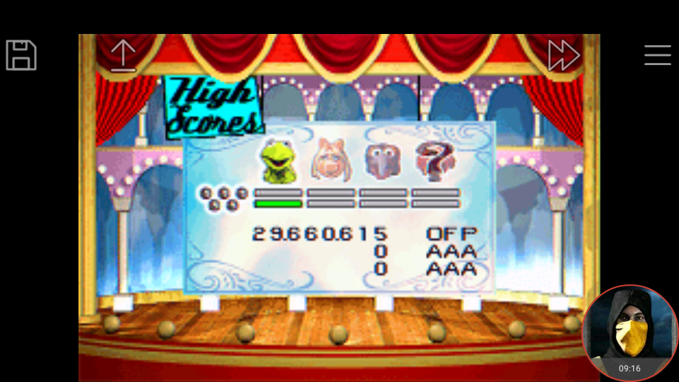omargeddon: Muppet Pinball Mayhem: Kermit [5 Balls] (GBA Emulated) 29,660,615 points on 2018-04-30 00:39:51