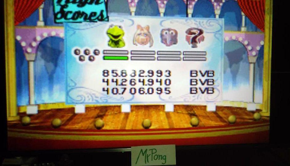 MrPong: Muppet Pinball Mayhem: Kermit [5 Balls] (GBA Emulated) 85,882,993 points on 2019-05-14 15:57:54