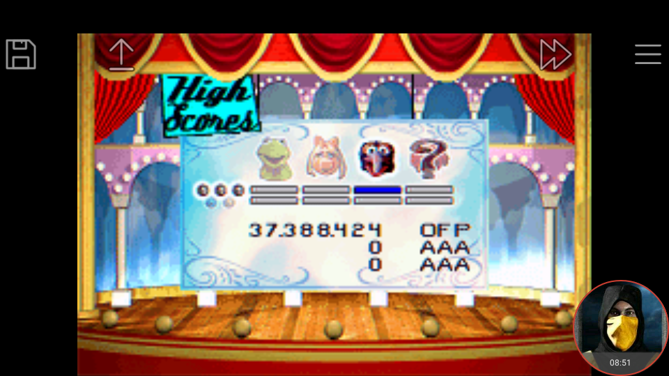 omargeddon: Muppet Pinball Mayhem: Konzo [3 Balls] (GBA Emulated) 37,388,424 points on 2018-04-30 00:37:09