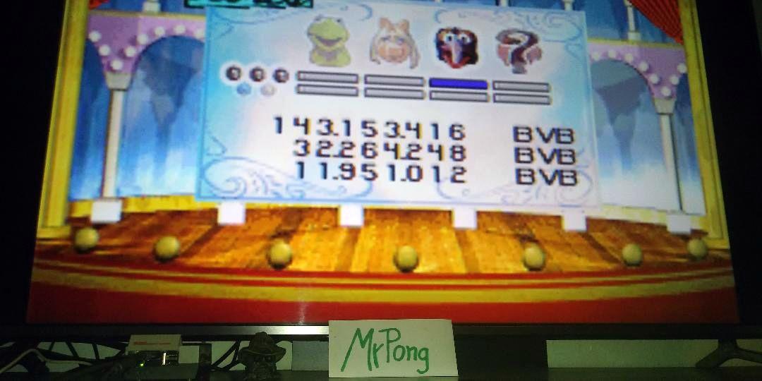 MrPong: Muppet Pinball Mayhem: Konzo [3 Balls] (GBA Emulated) 143,153,416 points on 2019-05-03 18:22:16