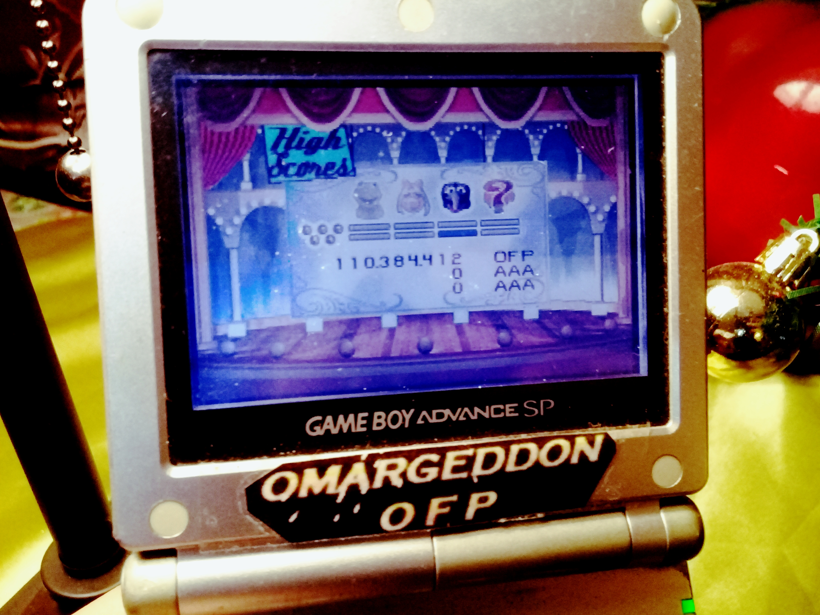omargeddon: Muppet Pinball Mayhem: Konzo [5 Balls] (GBA) 110,384,412 points on 2019-12-26 17:14:49