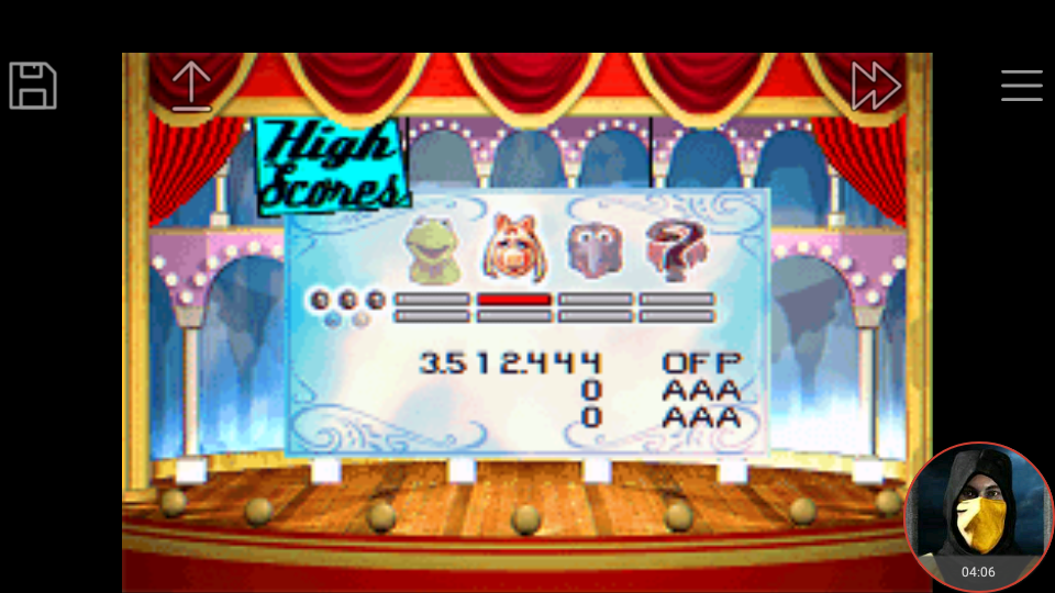 omargeddon: Muppet Pinball Mayhem: Miss Piggy [3 Balls] (GBA Emulated) 3,512,444 points on 2018-04-29 23:37:27