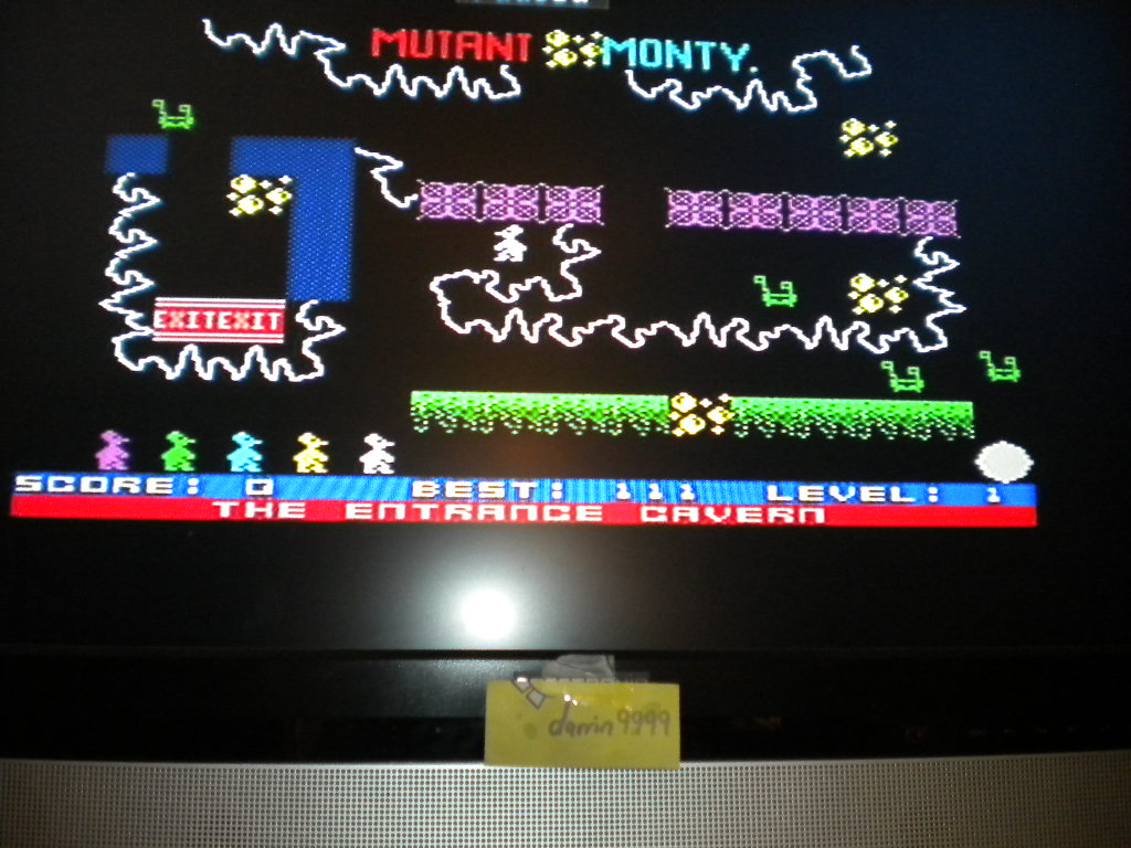 darrin9999: Mutant Monty (ZX Spectrum Emulated) 111 points on 2016-07-18 12:21:16