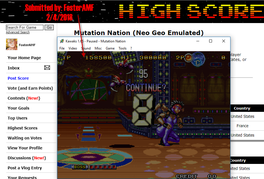FosterAMF: Mutation Nation (Neo Geo Emulated) 158,500 points on 2018-02-04 16:37:04