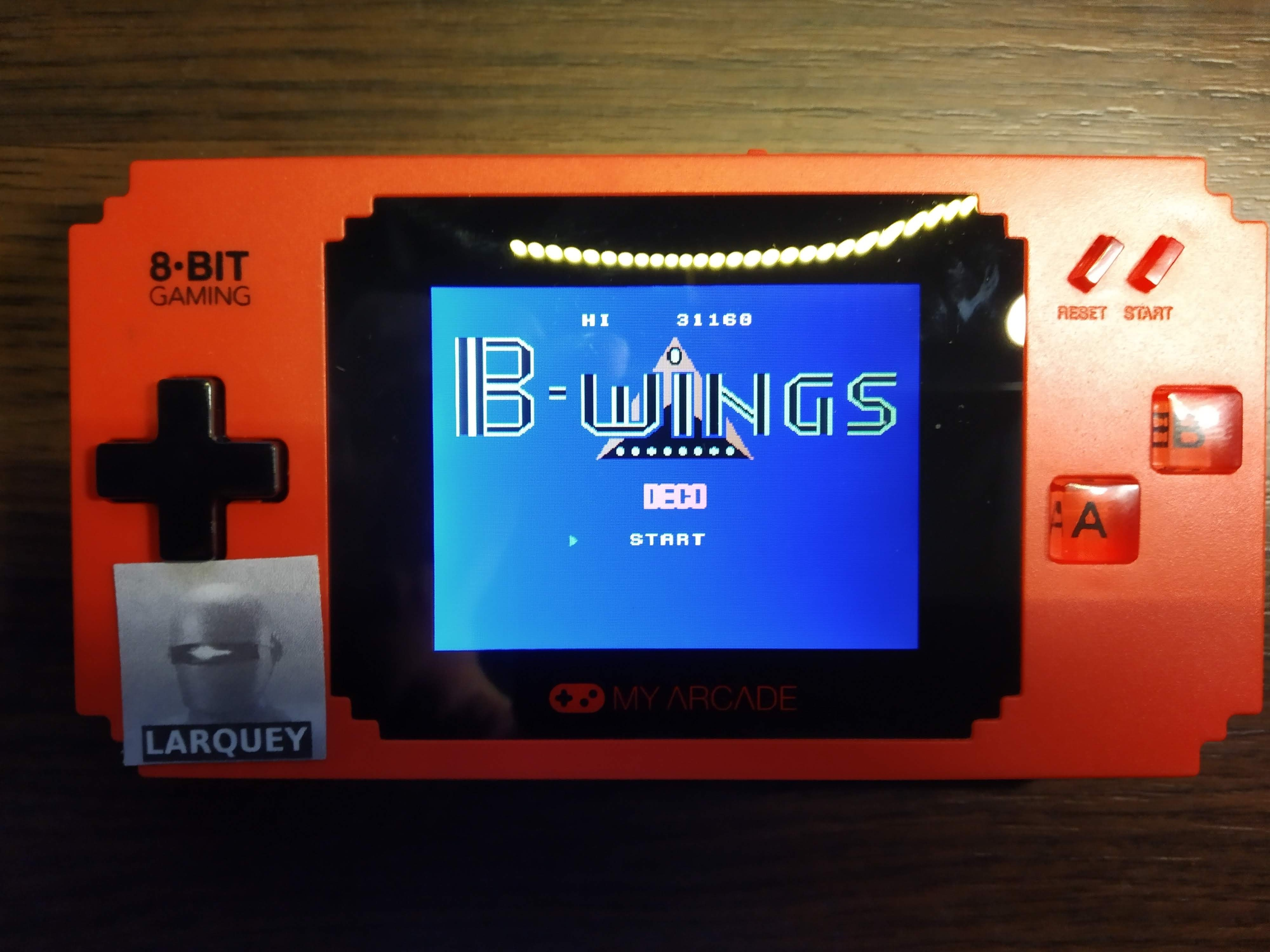 Larquey: My Arcade: B-Wings (Dedicated Handheld) 31,160 points on 2019-12-08 11:33:03