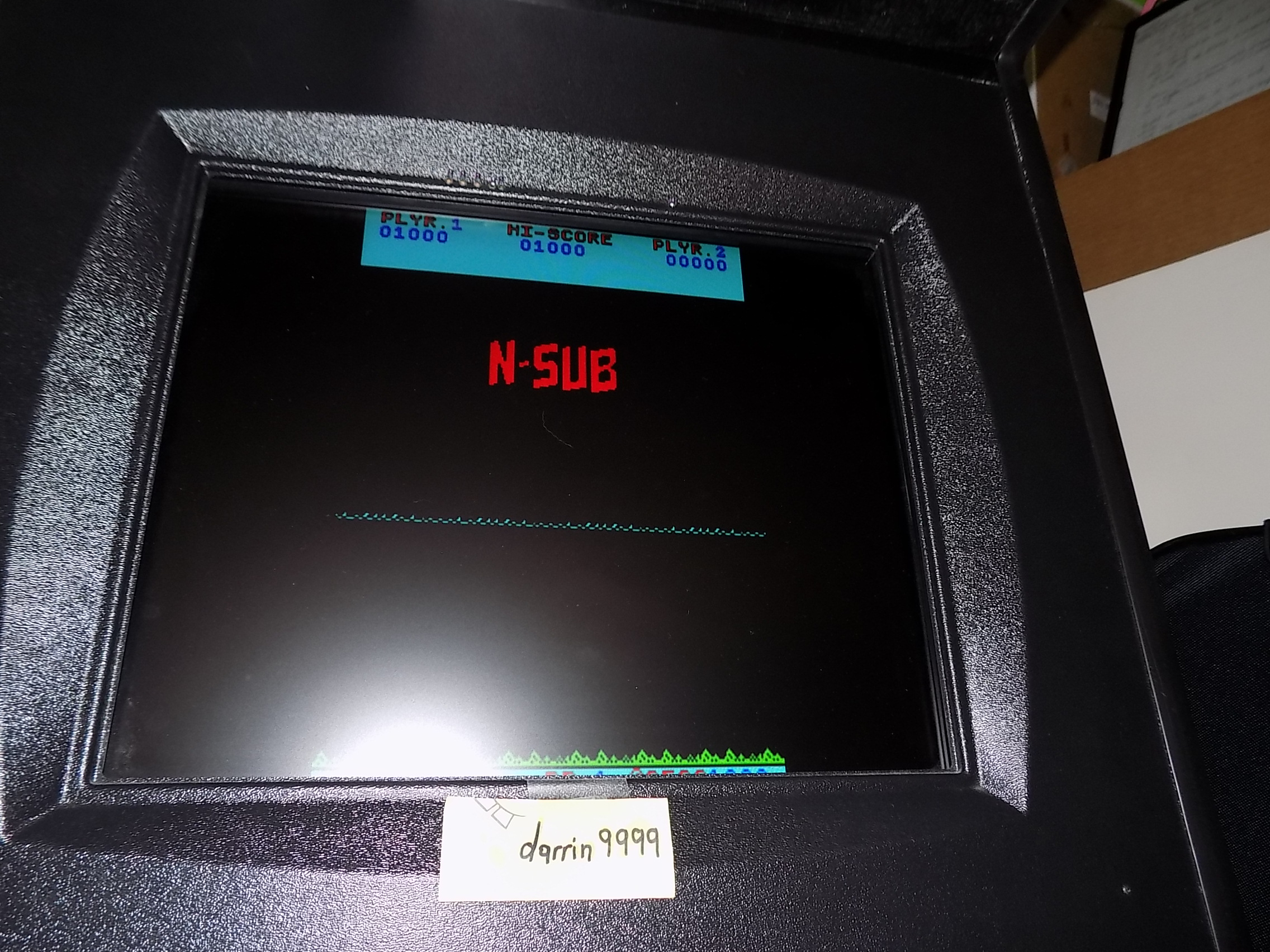 darrin9999: N-Sub [nsub] (Arcade Emulated / M.A.M.E.) 1,000 points on 2019-06-25 12:47:14