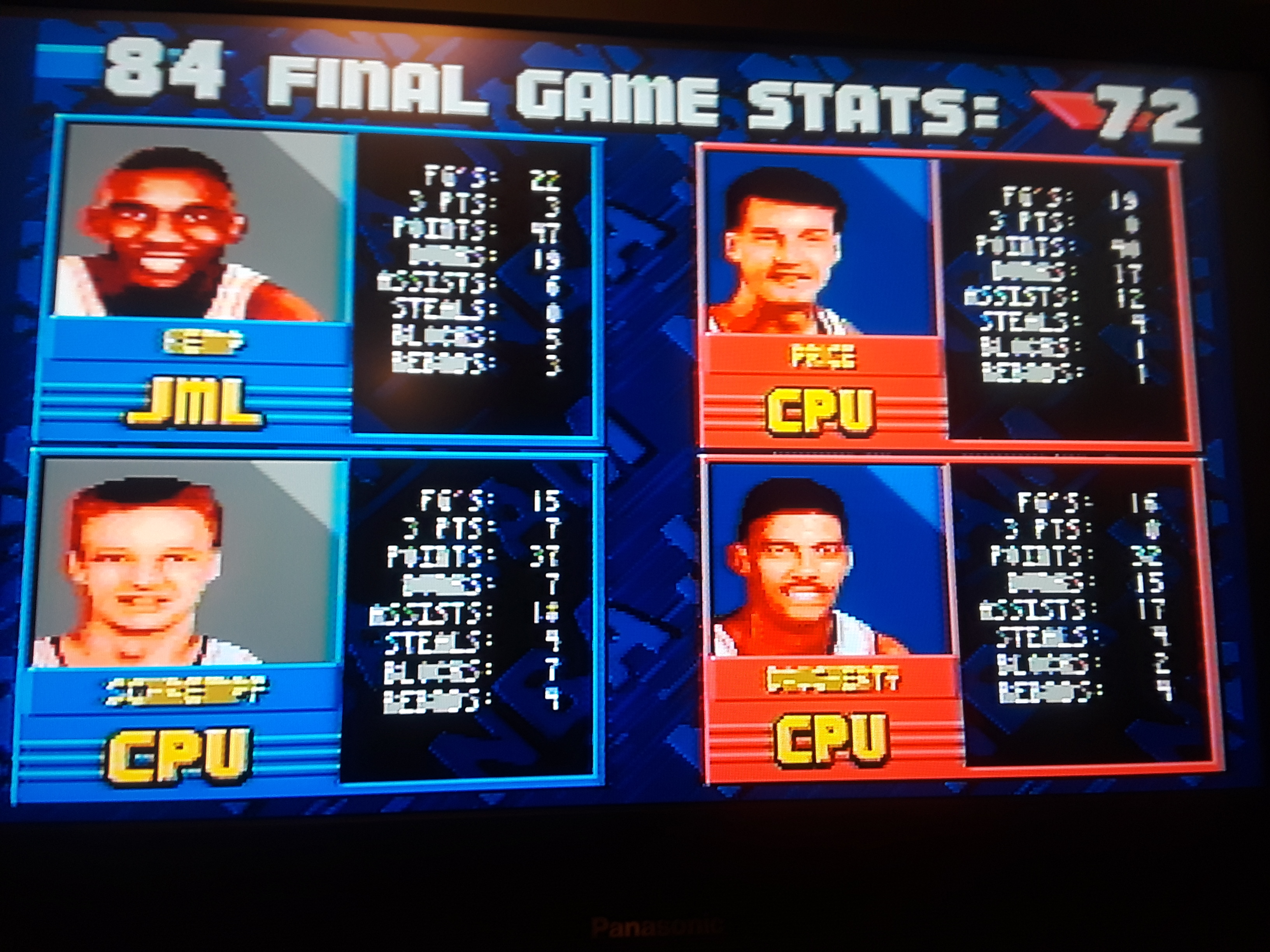 NBA Jam [Extra Easy] 84 points
